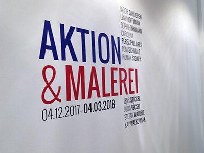 Wandbeschriftung Ausstellung Galerie Sindelfingen