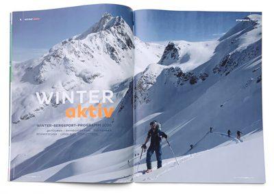 Stuttgarter Alpenverein Programm Aufmacher Editorial Design