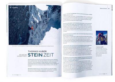 Alpenverein Magazin Interview Huber Buom Editorial Design